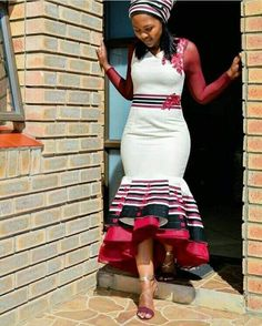 Latest African Fashion Dresses, African Dresses For Women, African Print Dresses, African Print Fashion, African Attire, South African Traditional Dresses, Traditional Outfits, Traditional Wedding, Wedding Dresses South Africa