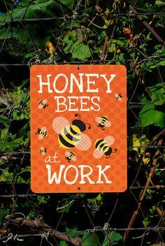"Honey Bees At Work (Tangerine) 9"" X 12"""