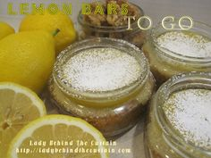 lemon bars to go, something you might find under your tree!!