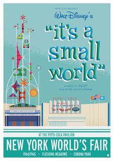 1964/1965 World's Fair- It's a Small World Poster on Behance