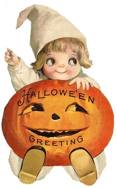 *The Graphics Fairy LLC*: Vintage Halloween Clip Art - Googly Eye Pumpkin Girl