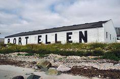 Port Ellen distillery warehouse lettering, Isle of Islay