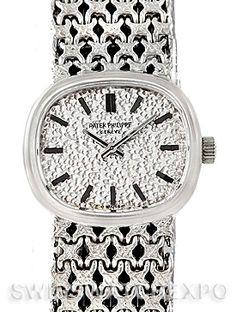 Patek Philippe Vintage Ladies 18k White Gold Watch 4187/1