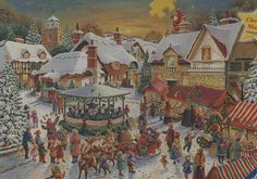 Ravensburger's Limited Edition The Christmas Market 1000 piece jigsaw puzzle features artwork by Roy Trower.