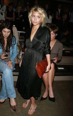 Ashley at the Calvin Klein Spring 2005 Show.