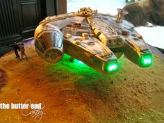 People -- this is a cake!!   The Butter End Cakery-Star Wars Millennium Falcon Cake