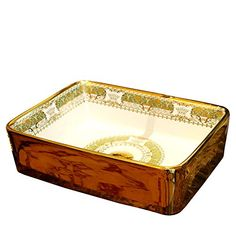 Material: Ceramic Basin Shape: Rectangular Processing: Mosaic Gold Faucet Mount: No Hole Type: Countertop Sinks Capacity: Special Application: Bathroom Sink Length*Width: Height: Sink Countertop, Countertops, Exposed Brick Kitchen, Gold Faucet, Vanity Sink, Luxury Home Decor, Basin, Ceramics, Bathroom