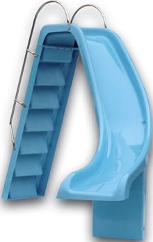 Curved swimming pool slide right hand version UK slides pools Brians Favorite one