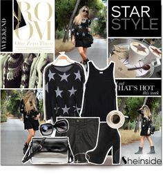 """""""Star Style by Sheinside"""" by ohmissanny ❤ liked on Polyvore"""