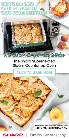 The Sharp Superheated Steam Countertop Oven makes #ImpulseBaking a breeze with no preheating required! Dare to make bold new desserts to perfection with the power of superheated steam up to 485° F. What will you create?
