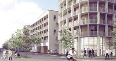 C.F. Møller Wins Competition for Hybrid-Structure High-Rise in Sweden, © C.F. Møller