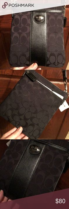 Coach Satchel Purse NWT Black Coach Bags Crossbody Bags