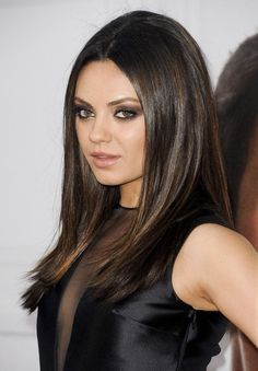 ♥ mila kunis | hair color and style