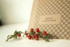 Kraft Merry Christmas with Dot Pattern  Christmas by SoftandLoud, $2.50