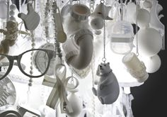 Hong Kong designer Winnie Lui constructed this chandelier out of toys and other everyday objects, making a unique and beautiful lighting fixture that certa