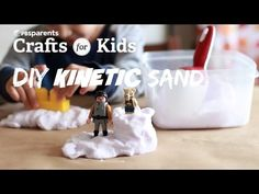Diy kinetic sand season 1 episode 92 crafts for kids wmht Crafts For Teens, Diy For Kids, Cool Kids, Make Kinetic Sand, Pokemon, Sand Crafts, Craft Videos, Kids Videos, Doll Videos