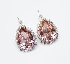 Hey, I found this really awesome Etsy listing at https://www.etsy.com/au/listing/226383868/blush-pink-bridal-earrings-pink