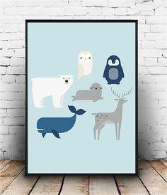 Framework of diverse animals framed in various format for child's room Basile - Monde Des Animaux