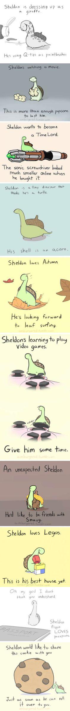 Sheldon The Tiny Dinosaur!