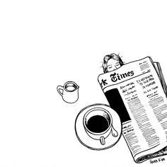 Drawing Sketches, Art Drawings, Sketching, Henn Kim, Minimal Drawings, Coffee And Cigarettes, Ellsworth Kelly, Coffee Drawing, Coffee Painting