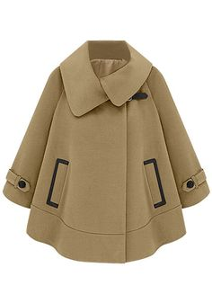 Camel-Colored Cape Coat - Ultra Chic Oversized Cape