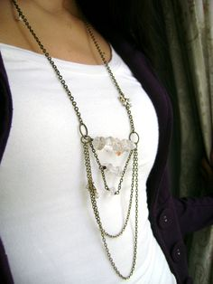 Majesty   vintage style natural crystal clear by DivinaLocura, $35.00