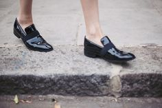 Celine loafers via Camille Over The Rainbow