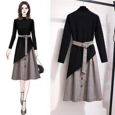 Teen Fashion Outfits, Kpop Fashion, Cute Fashion, Asian Fashion, Hijab Fashion, Girl Fashion, Fashion Drawing Dresses, Fashion Illustration Dresses, Fashion Dresses