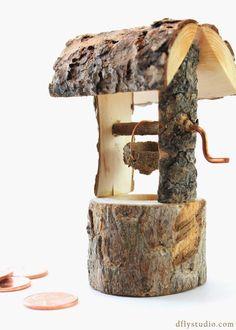 Small handmade woodland fairy garden by DragonflyStudioArts, $14.99