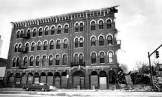 The facade of the 112-year-old Ogden Hotel in Council Bluffs, Iowa, was chewed away by a wrecking ball in January 1982. The hotel at 169 West Broadway was once bills as the finest west of the Mississippi River. It was placed on the National Register of Historic Places in 1976 and closed in 1977. Efforts to preserve the hotel failed because of financial difficulties. THE WORLD-HERALD