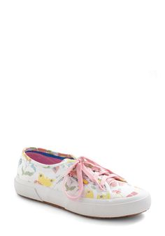 You Got What I Needlepoint Flat - White, Multi, Floral, Casual, Multi, Embroidery