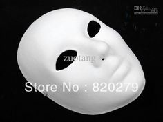 White Masks To Decorate Ornate Panther Diy Blank Mask Preorder  Blank Mask
