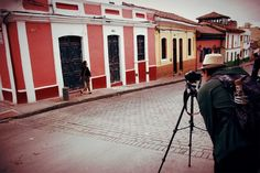 Filming the Mamahuhu Spot in La Candelaria, Bogotá.