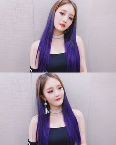 Image may contain: 2 people, selfie Purple Hair, Red Hair, Euna Kim, Songkran Festival, Soyeon, Kpop Girls, Girl Group, Cool Girl, Actors & Actresses