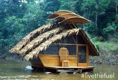 Tropical river house boat. Minimalism.  #LiveTheFuel