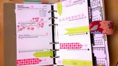 The Organised Artist : Playing ahead with my Filofax Retro Bloom personal .