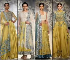 indian wedding clothes varun bahl 2014. Yellow Indian lehenga