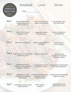 Best whole 30 meal plan. Easy cooking and instructions.Meals mapped out! Just refer to the menu! Healthy breakfasts, lunches, and dinners for every day.