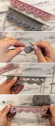 Total: 2 0 2 Knitting Edge – This beautiful knitting decorative edge is a popular knitting project because it beautifies objects and accessories. Watch this free video tutorial to learn how to make this knitting edge. Lace Knitting, Knitting Stitches, Knitting Patterns, Crochet Patterns, Start Knitting, Knitting Charts, Crochet Ideas, Stitch Patterns, Crochet Cord