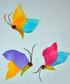 Chigiri-e Japanese torn Paper Art butterfly - chigirie #chigirie  #chigiri-e #paperart #japanesetornpaperart  #tornpaperart  Keep Calm and Craft On: A Look at Chigiri-e Japanese Paper Art