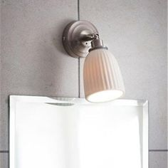 Small White Adjustable Bathroom Spotlight Wall Light