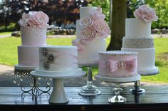 But a Dream Custom Cakes | CT Cake Design | Weddings &Events  far left: Chandelier Loopy Cake Plate created by Opulent Treasures >>http://www.opulenttreasures.com/shop/chandelier-loopy-band