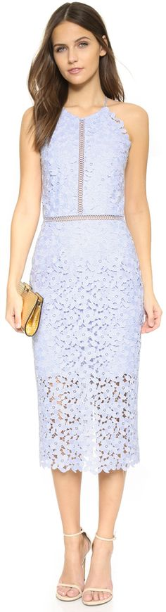 Cynthia Rowley Floral Lace Halter Dress