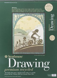 "Strathmore Drawing Premium Recycled Paper Pad 18"" X 24"" - 24 Sheets $15.55"