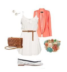 love colored blazers and white dresses