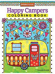 Painting Drawing - Coloring - Happy Campers Coloring Book