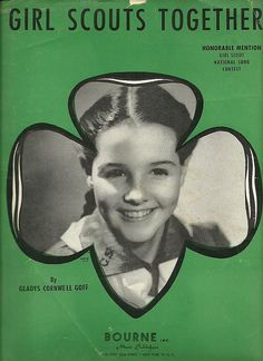 VINTAGE GIRL SCOUT 1941 SHEET MUSIC - GIRL SCOUTS TOGETHER I love this song!