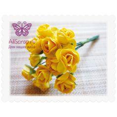 "Бумажный цветок ""Розочка"", цвет жёлтый"