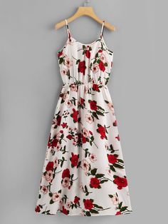 Floral Print Cami Dress Check out this Floral Print Cami Dress on Shein and explore more to meet your fashion needs! Style Outfits, Dress Outfits, Casual Dresses, Fashion Dresses, Cute Outfits, Summer Dresses, Sundress Outfit, Summer Outfits, Vetement Fashion