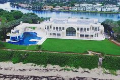 Opulent Square Foot Oceanfront Mega Mansion In North Palm Beach, FL Mega Mansions, Mansions For Sale, Mansions Homes, Stone Mansion, Dream Mansion, Beach Mansion, Palais Royal, Le Palais, Luxury Apartments